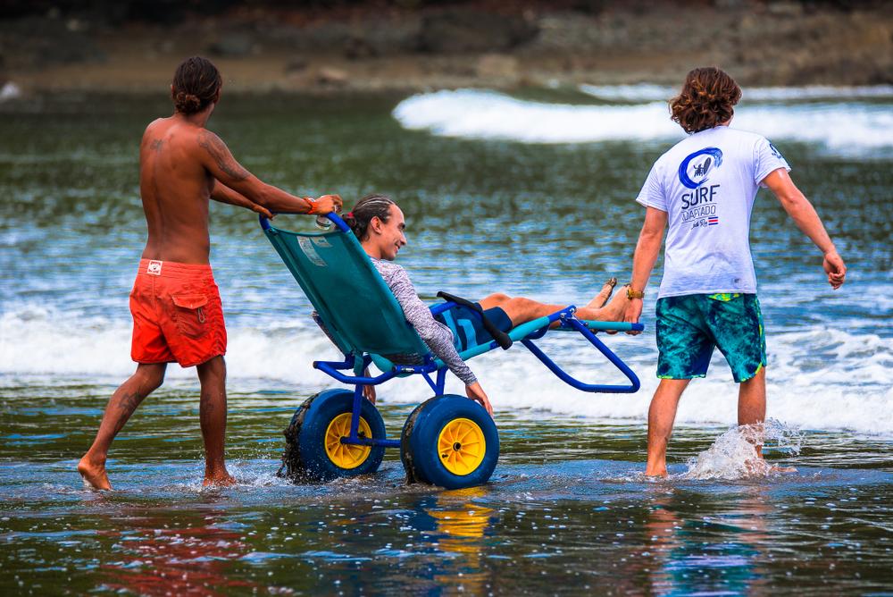 Ayudas tecnicas para la playa. Movilidad reducida.