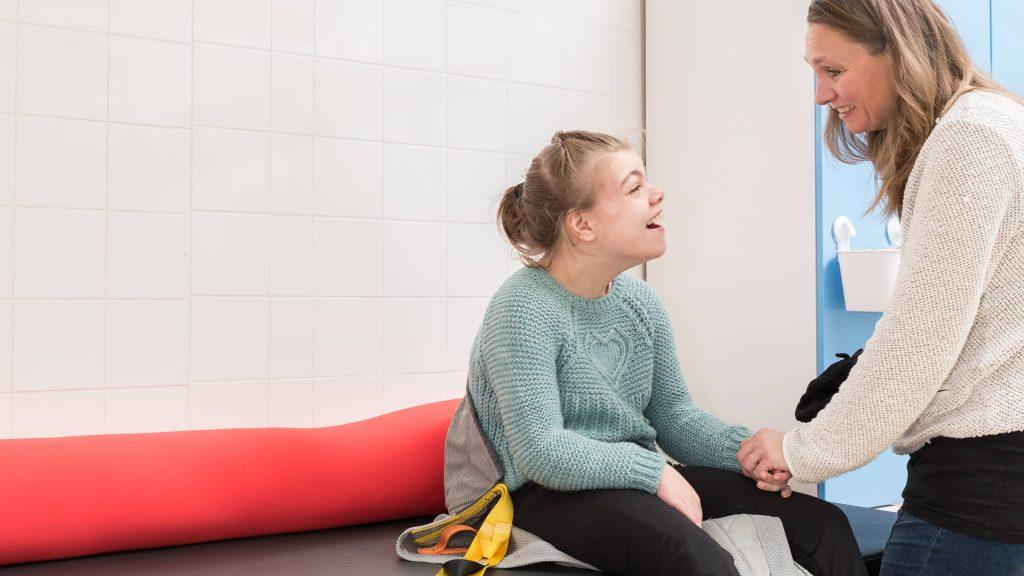 descanso en niños con discapacidad